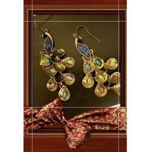 🎁5/$20🎁New Peacock Chandelier Boho Earrings